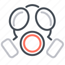biohazard, chemical, gas, mask, outbreak icon