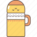bottle, coffee, cup, drink, tea, thermos icon
