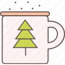 camping, coffee, cup, drink, outdoor, tea, tree icon