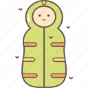 camping, outdoor, sleeping bag, tourism, travel icon