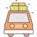 camping, car, shipping, tourism, transport, travel icon