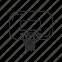 ball game, basketball, board, net, outdoor sports, rim, sport