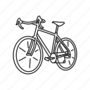 bicycle, bike, cycle, exercise, fixie, road bike, street bike icon