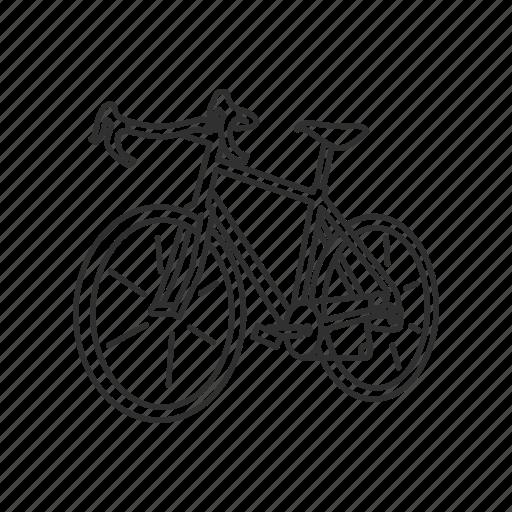 bicycle, bike, cycle, exercise, fixie, road bike, street bike icon