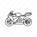 big motorcycle, bike, crotch rocket, motor, motorcycle, ride, speed icon