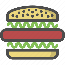 beef, fast, foos, hamburger, meat, sandwich icon