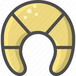bakery, cake, crescent, croisant, mornign icon
