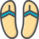 beach, footwear, scuff, sleepers, summer, sunshine icon