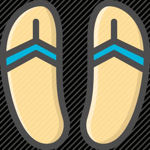 beach, footwear, scuff, sleepers, summer, sunshine icon