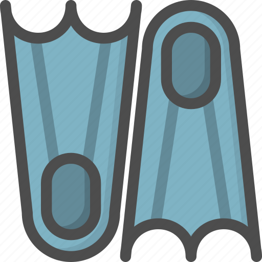 Dive, dive foot, scuba, sport, swim, under, water icon - Download on Iconfinder