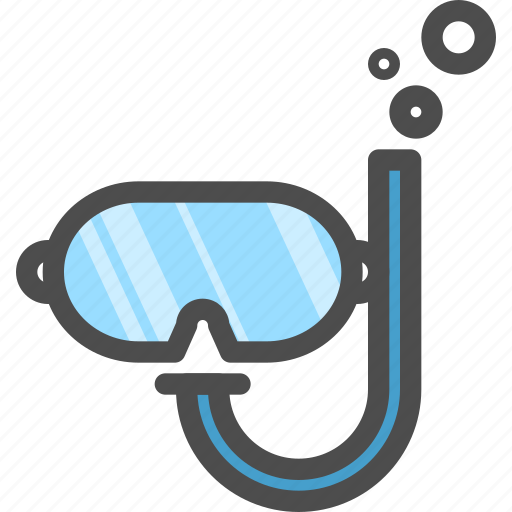 dive, diving, googles, scuba, under, water icon
