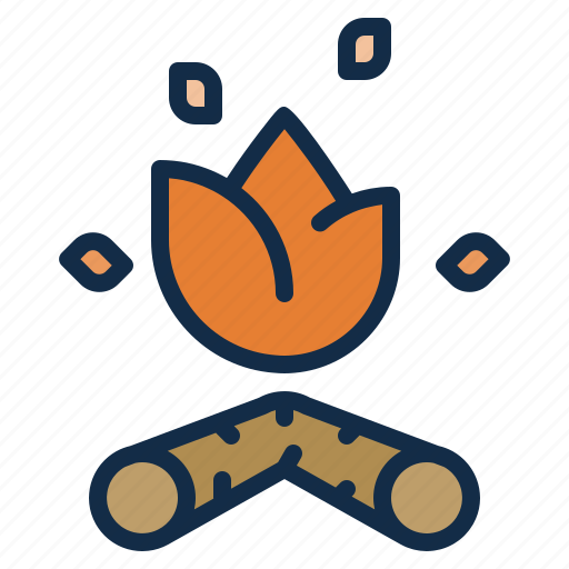 campfire, camping, fire, outdoor icon