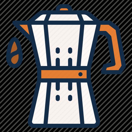 coffee, drink, kitchen, moka, pot icon