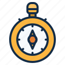 compass, direction, location, map, navigation, tool icon
