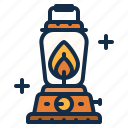 fire, gasoline, lantern, light, oil, outdoor, torch icon