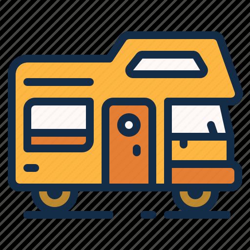camping, car, caravan, comfortable, outdoor, trailer icon