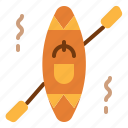 activities, boat, kayak, outdoor, paddle icon