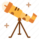 astronomy, binoculars, research, space, spyglass, telescope icon