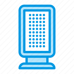 ad, advertisement, advertising, lightbox, stand icon