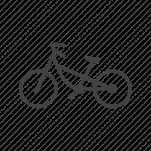 bicycle, bike, cycling, cyclist, mountain, sport, work icon