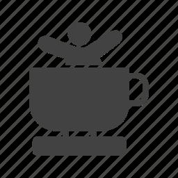 amusement, cup, entertainment, fun, park, ride, teacup icon