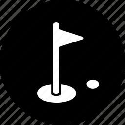 aim, flag, game, golf, hole, sport, sports icon