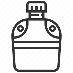 beverage, bottle, camp, camping, canteen, drink, water icon