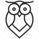 animal, bird, owl, ui, ux icon