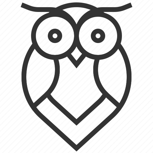 animal, bird, owl, ui, ux icon
