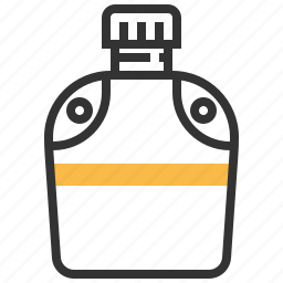 camp, canteen, water icon