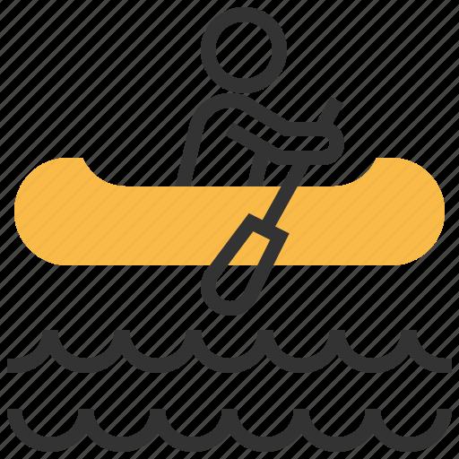 canoe, rowing icon