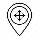 area, locate, located, location, position icon