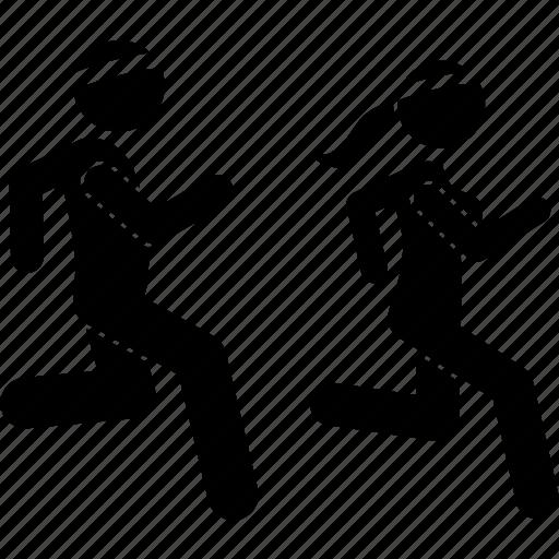 jog, joggers, jogging icon