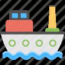 boat, cargo boat, cargo ship, ship, voyage icon