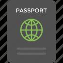 international travelling, passport, travel authorization, travel identity, worldwide travel pass icon