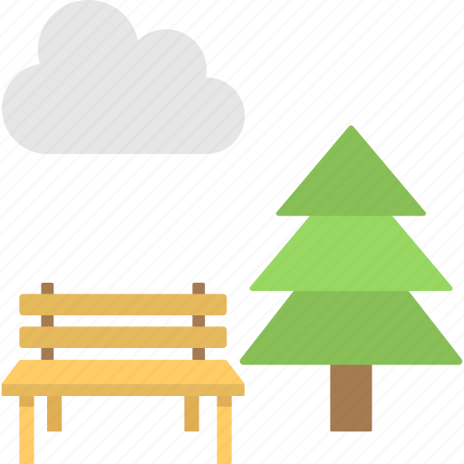 garden, lawn, natural area, park, planted space icon