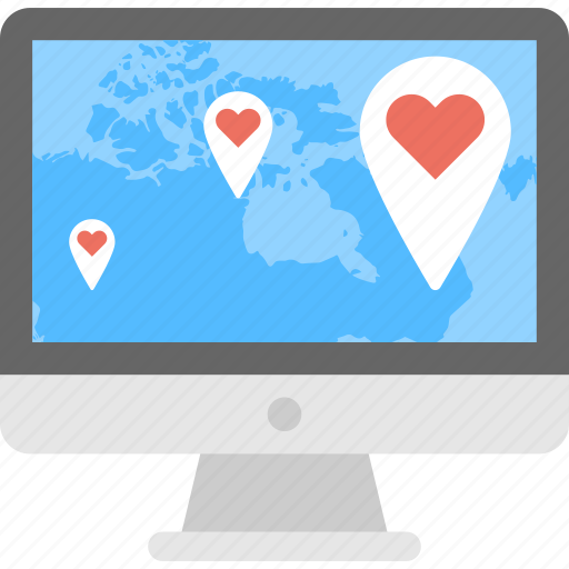 Dating point, favourite place, leisure travelling, lovely location, online locationing icon - Download on Iconfinder