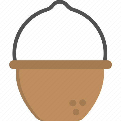 campfire cooking, cookware, hanging pot, outdoor cooking, soup pot icon