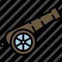 canon, equipment, outdoor, warfare, weapon icon