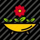 decoration, flower, nature, outdoor, plant, pot icon