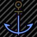 anchor, marine, nautical, outdoor, sea, sign, water icon