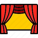 concert, curtains, drama, play, show, stage, theatre icon