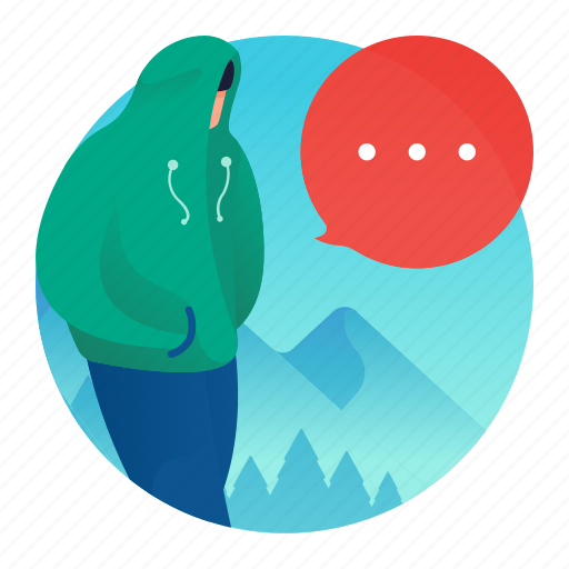chat, communication, man, people, text icon