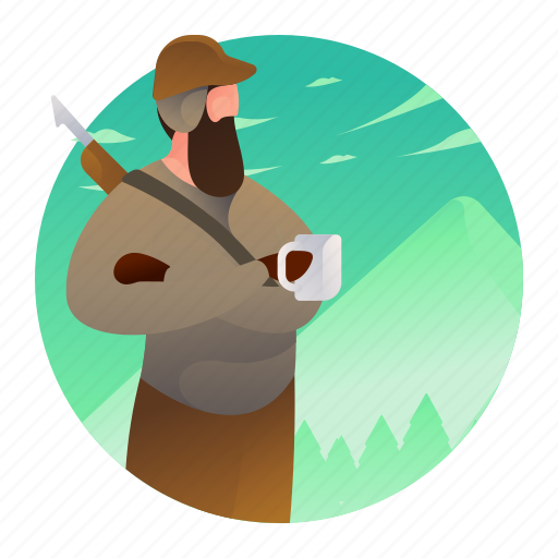 hunter, hunting, man, people, weapon icon