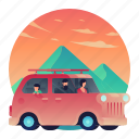 car, family, outdoors, people, roadtrip icon