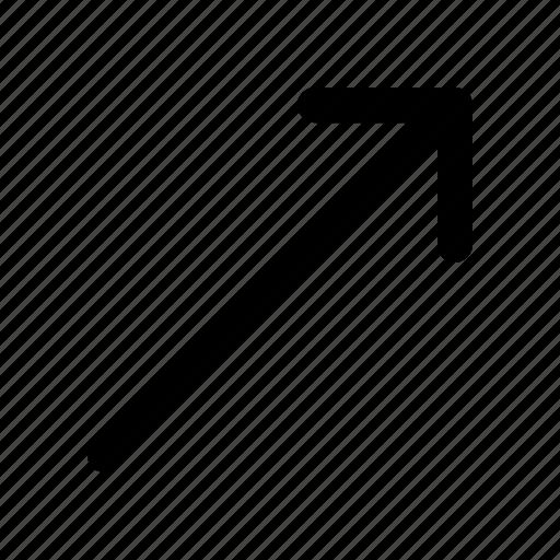 arrow, profit, right, up icon