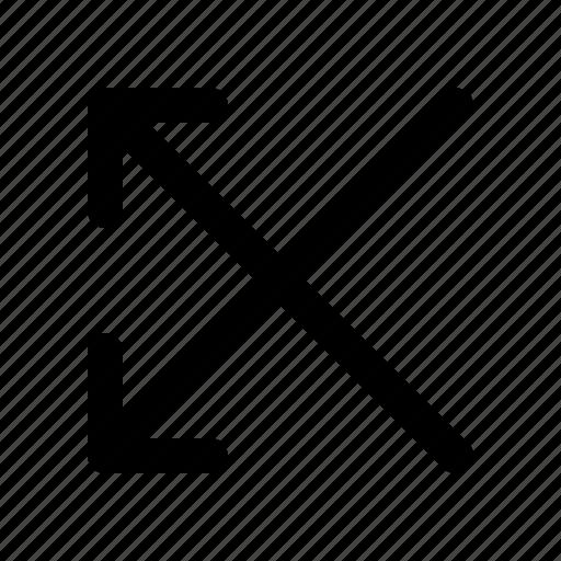 arrow, cross, direction, double, left icon