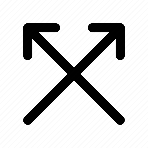 arrow, cross, direction, double, up icon