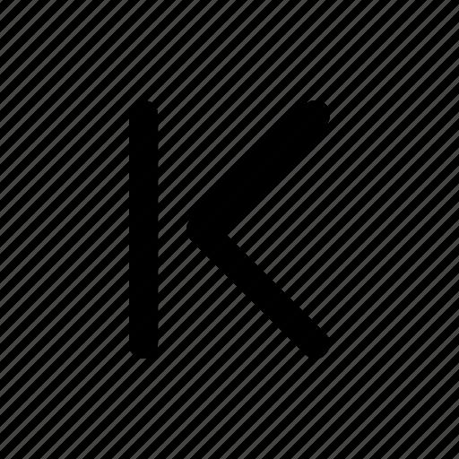back, backward, left, previous icon