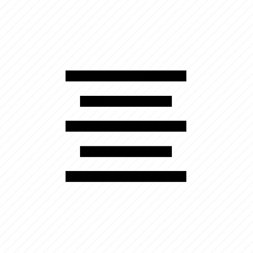 align, center, font, paragraph icon